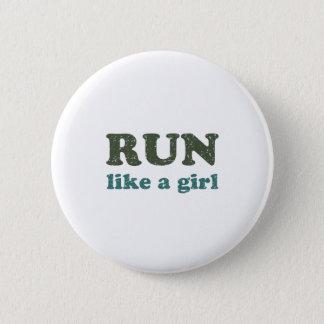Run like a girl 2 inch round button