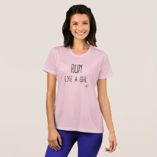 Run Like A GIRL Athletic Tee