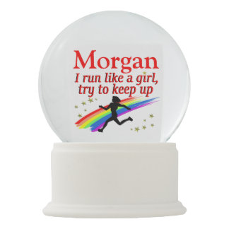 RUN LIKE A GIRL PERSONALIZED SNOW GLOBE