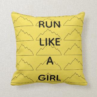 Run Like A Girl pillow