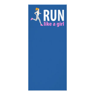 Run like a girl rack card