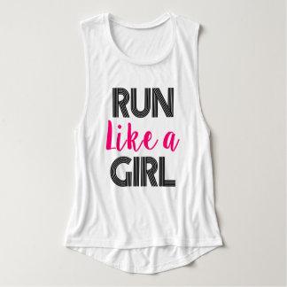 Run Like a Girl women's runner tank top