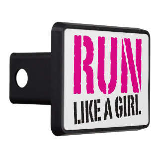 Run Like A Girl - Workout Inspiration Trailer Hitch Cover