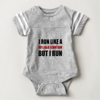 Run Like Slow Jam Funny Baby Bodysuit