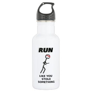 Run Like You Stole Something Water Bottle