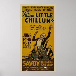 Run Little Chillun 1940 WPA Vintage Theatre Poster