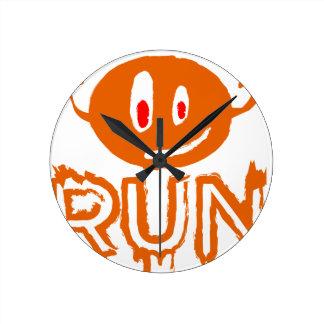 Run | Little halloween monster Round Clock