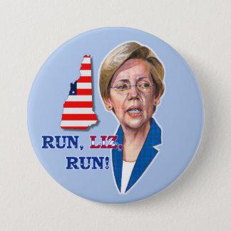 Run, Liz, Run! 3 Inch Round Button