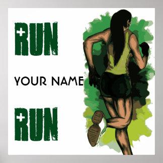 Run Lola Run - Customizable Running Inspritation Poster