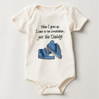 Run Marathon Just Like Daddy Baby Bodysuit