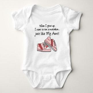 Run Marathon Just Like My Aunt Baby Bodysuit