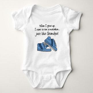 Run Marathon Just Like My Grandpa Baby Bodysuit