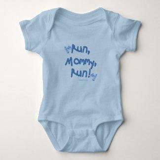 Run Mommy Run - Blue Baby Bodysuit