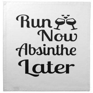Run Now Absinthe Later Napkin