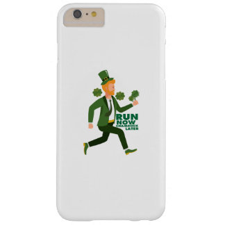 Run Now Shamrock Later St Patricks Day Funny Barely There iPhone 6 Plus Case