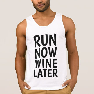 RUN NOW WINE LATER, Funny Runner T-shirts