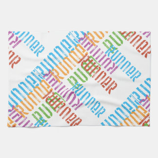 Run Off Variety Colorful Runner Towel
