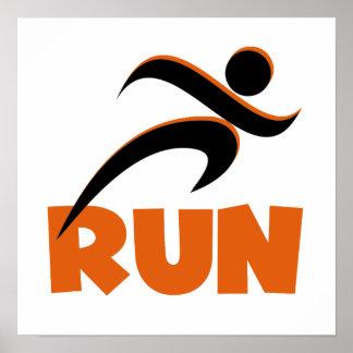 RUN Orange Poster