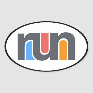 Run Oval Car Sticker