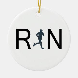 Run Round Ceramic Ornament