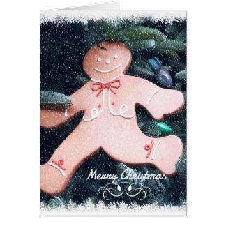 Run Run Gingerbread Card