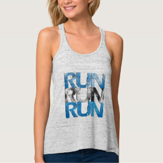 Run Run Run - Runner Flowy Racerback Tank Top
