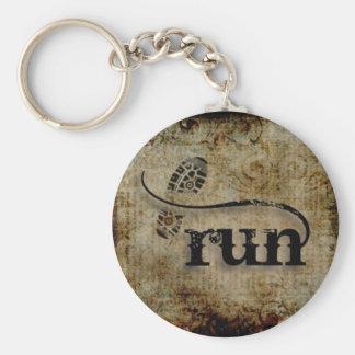 Run/Runner by Vetro Jewelry Basic Round Button Keychain