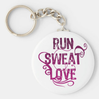 Run Sweat Love Keychain