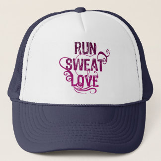 Run Sweat Love Trucker Hat
