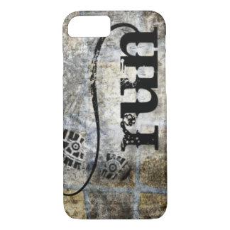 Run w/Shoe Grunge by Vetro Jewelry & Designs iPhone 7 Case