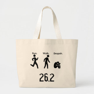 Run. Walk. Despair. Marathon Large Tote Bag