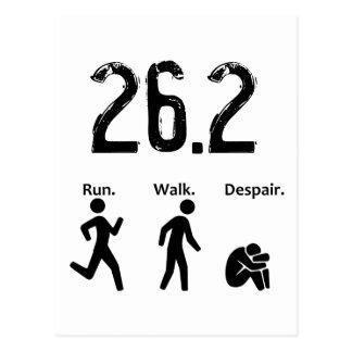 Run. Walk. Despair. Postcard