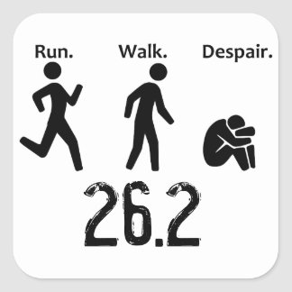 Run. Walk. Despair. Square Sticker