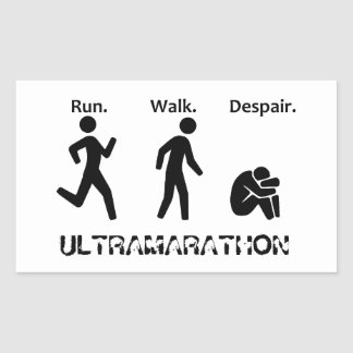 Run Walk Despair Sticker