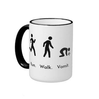 Run. Walk. Vomit Ringer Mug