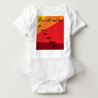 run wild and free you never know whose chasing you baby bodysuit