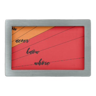 run wild and free you never know whose chasing you rectangular belt buckle