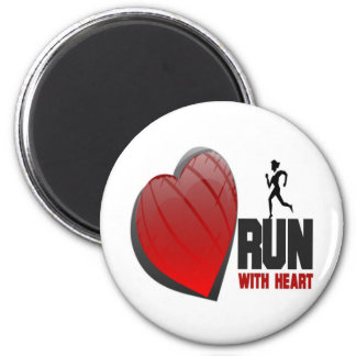 RUN WITH HEART PRODUCTS MAGNET