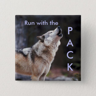 Run with the Pack 2 Inch Square Button