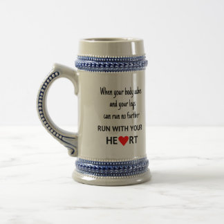 Run with your heart sport beer stein