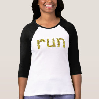 Run (yellow flowers) T-Shirt