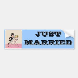 Runaway Bride & Groom Bumper Sticker