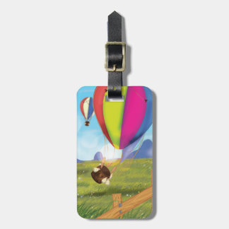 Runaway Cartoon Hot Air Balloon Luggage Tag