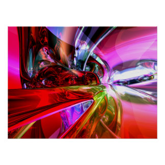 Runaway Color Abstract Poster