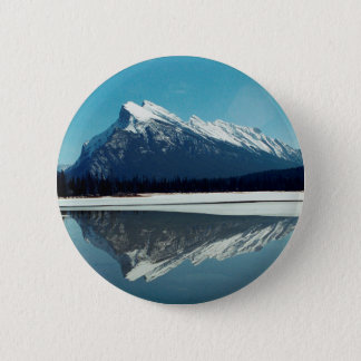 Rundle Mountain, Banff 2 Inch Round Button