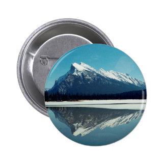 Rundle Mountain, Banff 2 Inch Round Button