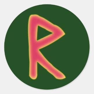 rune Raidho Futhark Classic Round Sticker