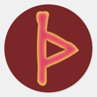 rune Thurisaz futhark Classic Round Sticker