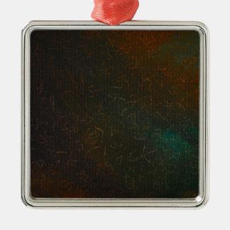 Runes Silver-Colored Square Ornament