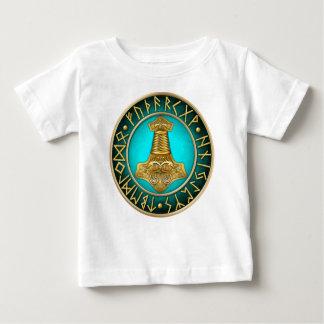 Runes - Thors Hammer - Teal Baby T-Shirt